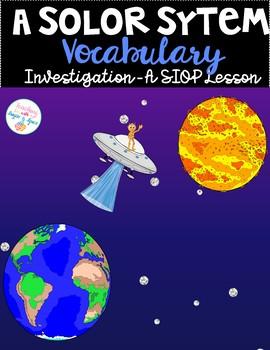 Solar System S.I.O.P Vocabulary Lesson