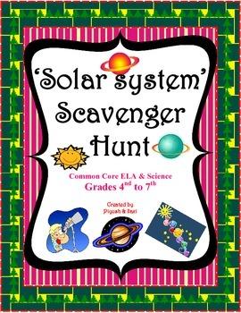 Solar System Scavenger Hunt - An Activity
