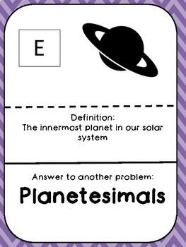 Solar System Scavenger Hunt Game