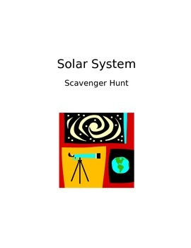 Solar System Scavenger Hunt - Students Edit and Save the PP!