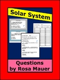 Our Solar System, Task Cards, Solar System Worksheets, Science Activities