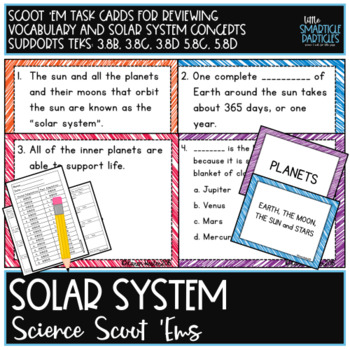 Solar System Task Cards: Science Scoot 'ems