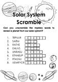 Solar System Scramble