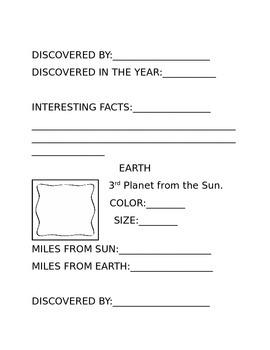 Solar System Scrapbook