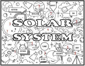 Solar System Seek & Find Doodle Page
