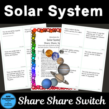 Solar System Share, Share, Switch Game