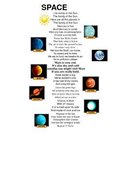 Solar System Song Lyrics by Smith's Science | Teachers Pay ...