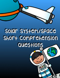 Solar System/Space Reading Comprehension