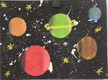 Solar System Space Step by Step Artwork
