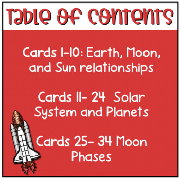 Solar System & Space Task Cards