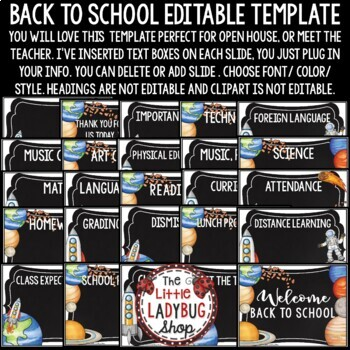 Solar System & Space Theme Back To School Open House- Meet The Teacher Template