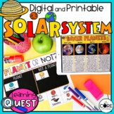Solar System Space Unit   Digital and Printable