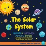 Solar System Speech & Language Activities