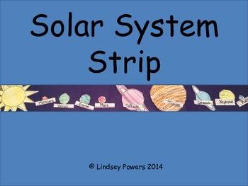 Solar System Strip - 3rd Grade Science