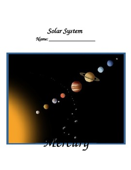 Solar System Student Fact Journal