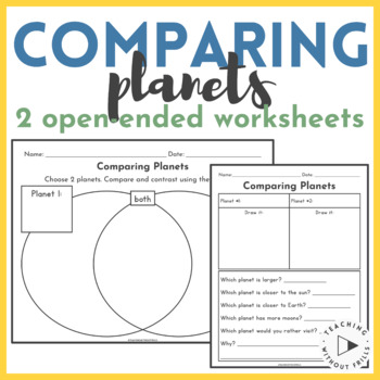 Solar System Study- Compare 2 Planets
