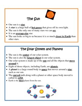 Solar System Study Guide 4th Grade Science