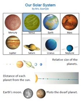 Solar System Table Version 1