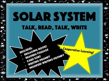 Solar System Talk, Read, Talk, Write Activity