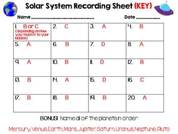 Solar System Task Cards & Study Guide (3.E.1.1, 3.E.1.2)