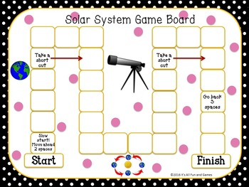 Solar System Task / Scoot Cards & Game board