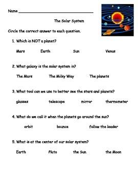 Solar System Test