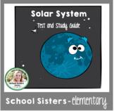 Solar System Test, Key, & Study Guide