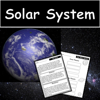 Science Unit: The Solar System: Test and Flip Book Included