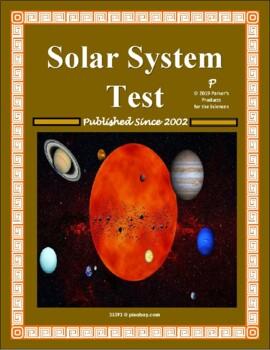Solar System Test or Summative Study Guide