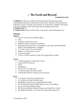 Solar System Thematic Unit Lesson Plan