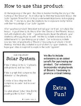 Solar System Three Part Cards