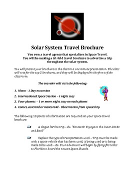 Solar System Travel Brochure - Sun, Planets, etc.