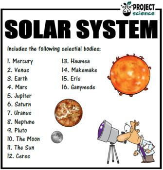 Solar System Trumps Card Game