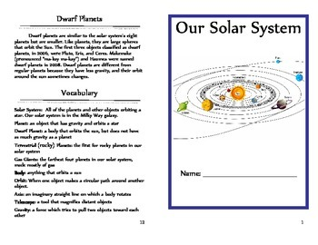 Solar System Unit* Interactive* Text-Dependent Questions