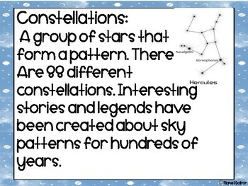 Solar System Unit Astronomy Moon Phases Constellations