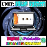 Solar System Astronomy Unit- Digital and Printable Interactive Notebook