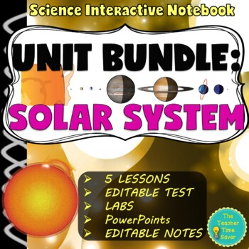 Solar System Unit Bundle (70 pages and 129 PowerPoint slid