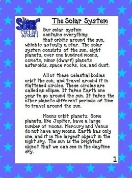 Planets And Solar System Unit With Text Dependent Questions For Close Reading
