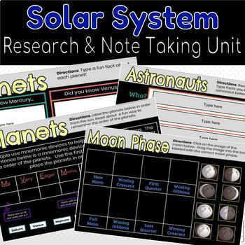 Solar System Unit Google Classroom