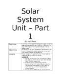 Solar System Unit - Part 1
