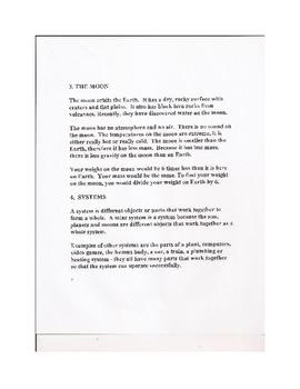 Solar System Unit Review Sheets Quiz Tests