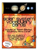 Solar System Vocabulary Cards (Word Wall)
