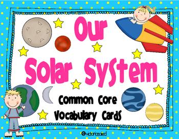 Solar System Vocabulary Cards