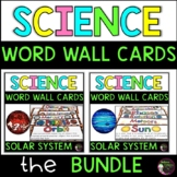 Solar System Vocabulary Cards BUNDLE