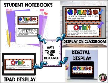 Solar System Vocabulary Cards -Part 1