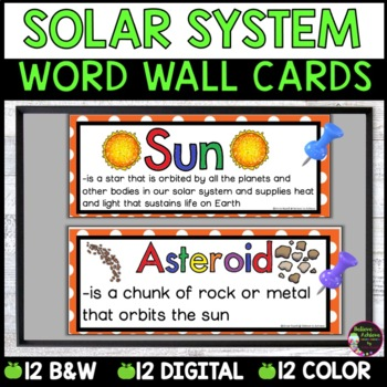 Solar System Vocabulary Cards -Part 2