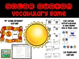Solar System Vocabulary Game and Review