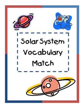 Solar System Vocabulary Match
