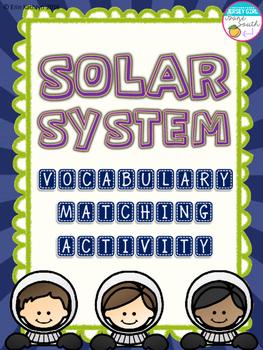 Solar System Vocabulary Matching Activity - Set of 30