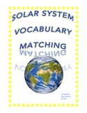 Solar System Vocabulary Math